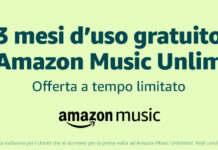 amazon music 3 mesi gratis