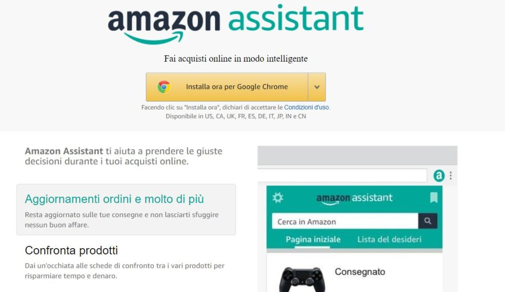 assistant amazon chrome